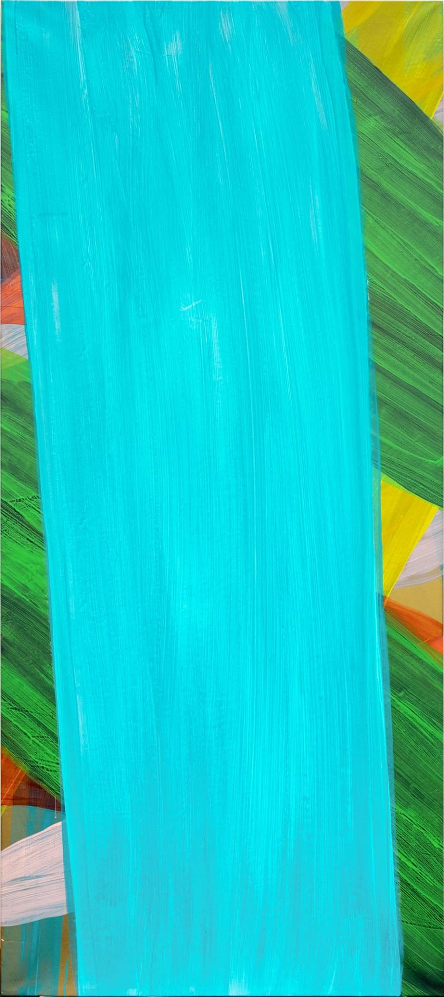 Katharina Grosse, o.T., 2004, Acryl auf Leinwand, 220 x 98 cm