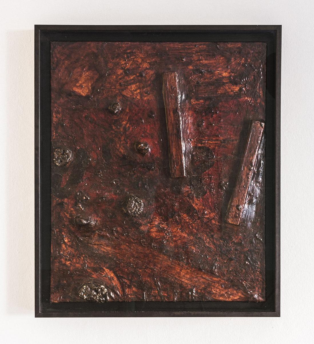 Martin Kippenberger  o.T., 1990, Öl, Acryl und Latex auf Leinwand 90 x 75 cm  Werkverzeichnis: Capitain-Fiorito/Franzen, III, MK.P.1990.72